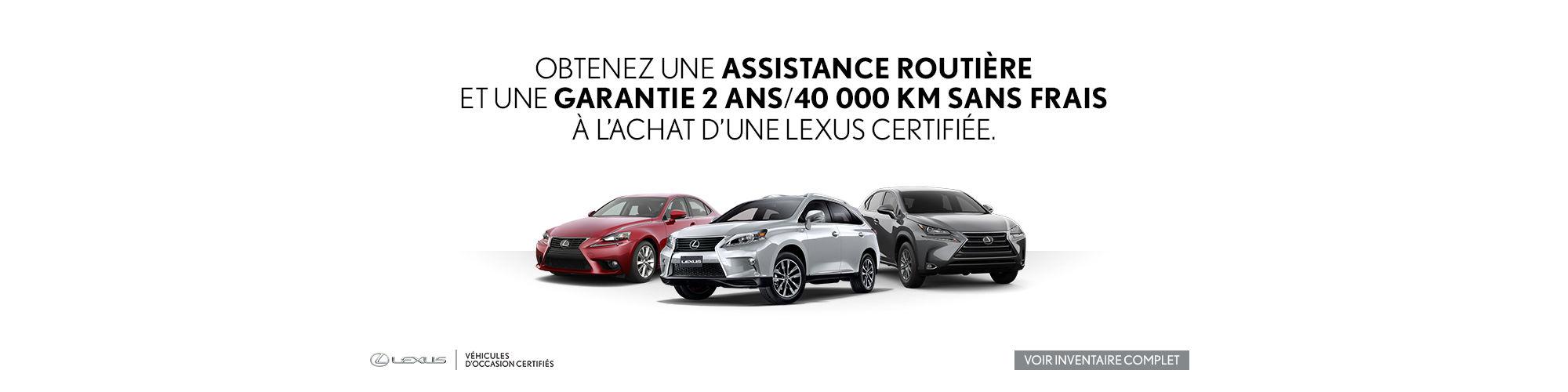 Véhicules Certifiés Lexus