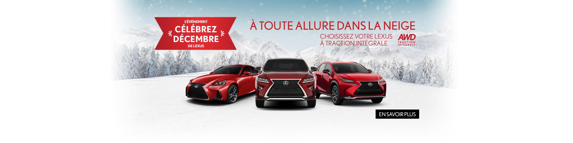 Célébrez Décembre de Lexus