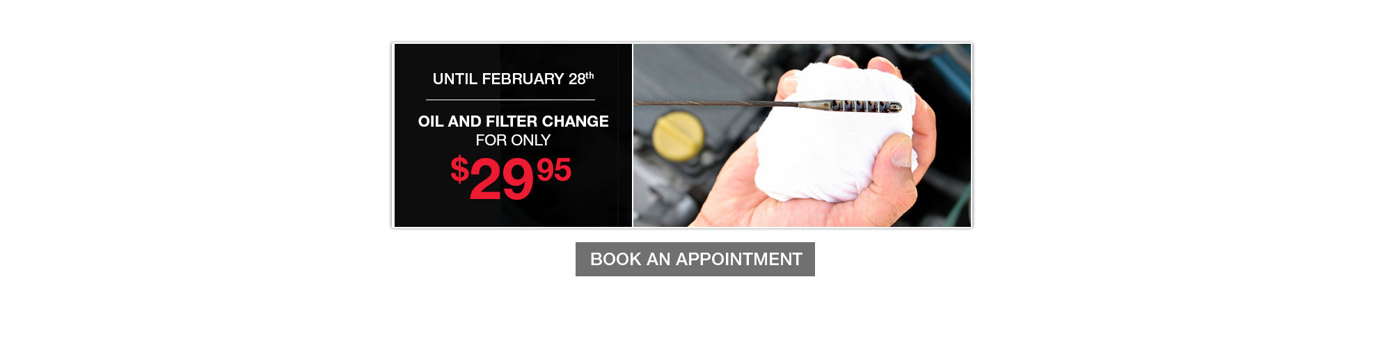 Oil and Filter Change Promotion