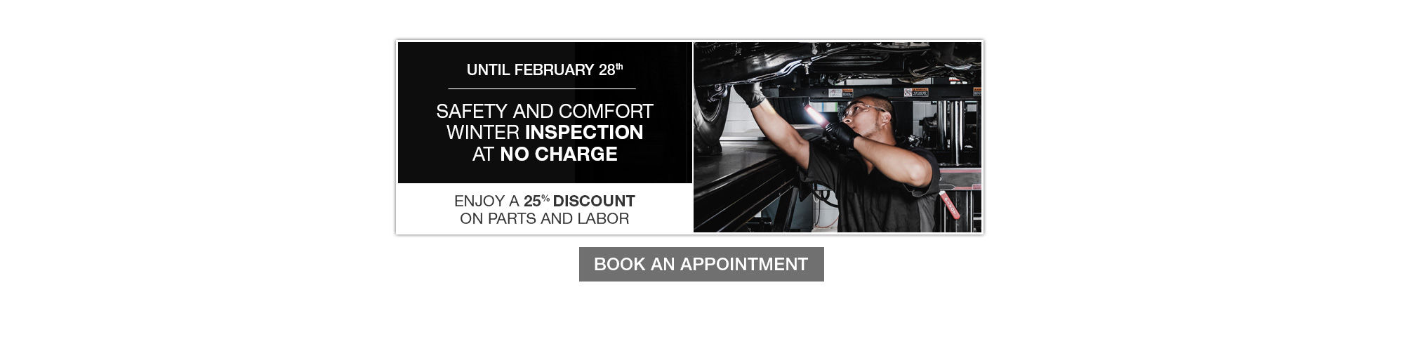 Safety and comfort inspection