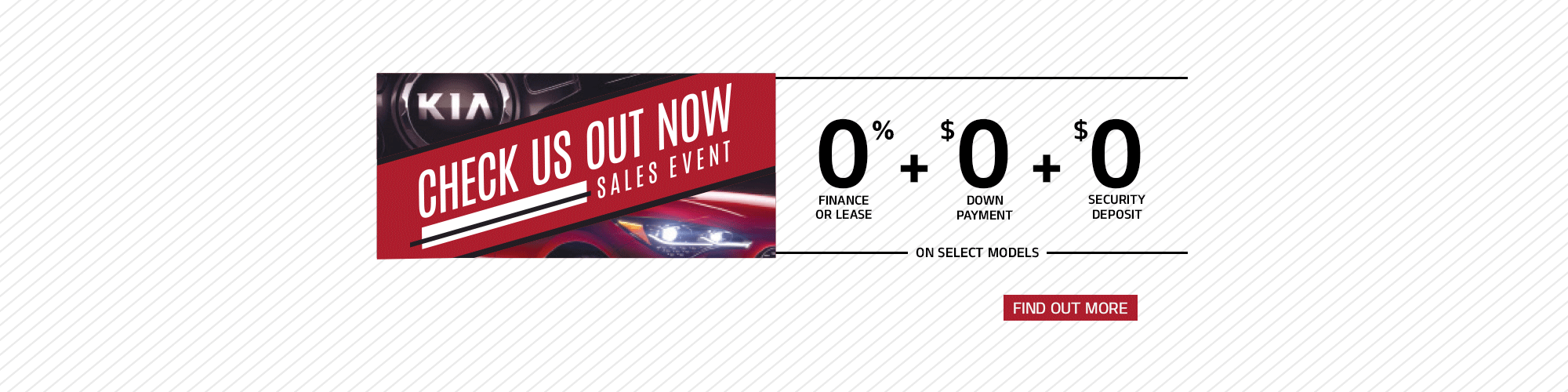 Check us out now Sales Event