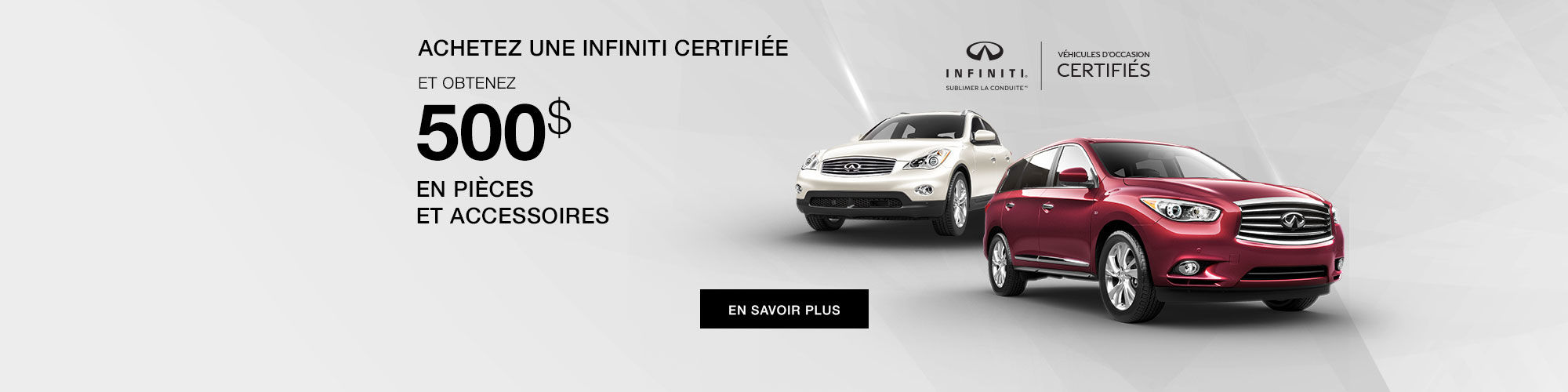 Infiniti véhicule d'occasion certifié