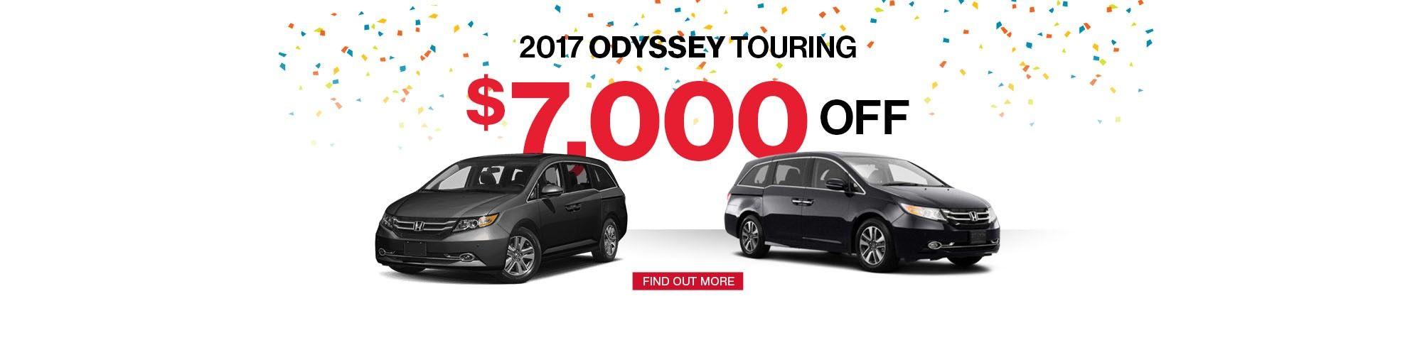 2017 Honda Odyssey promotion