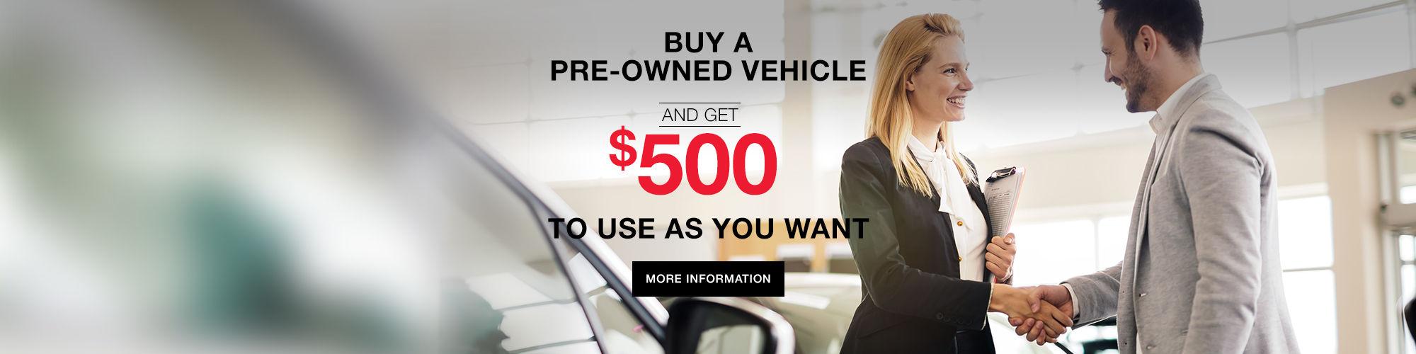$500 in Spinelli Mazda Credit