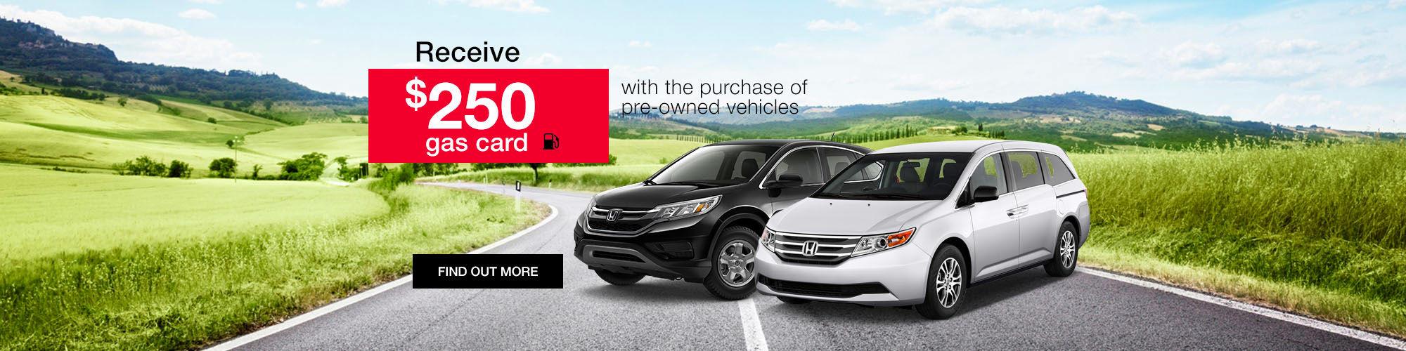 Honda $250 Gas Card