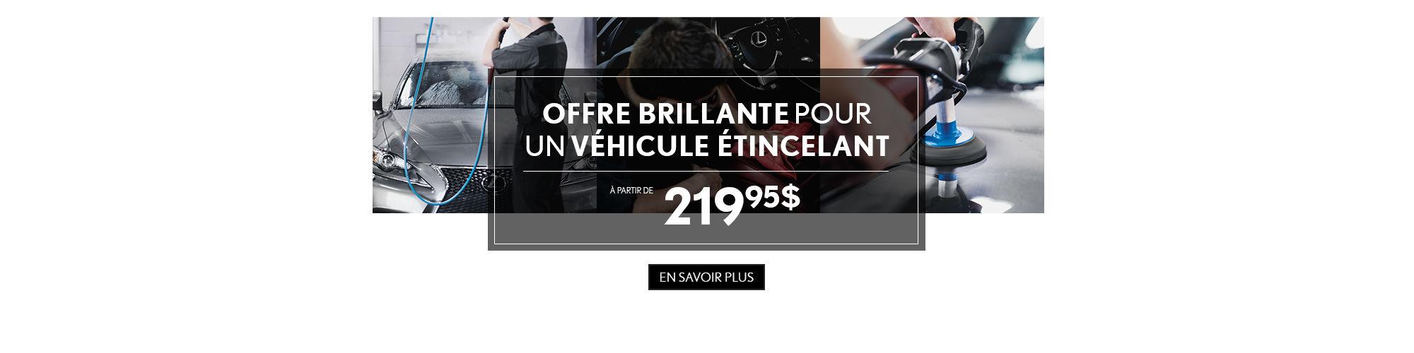 Offre brillante Lexus