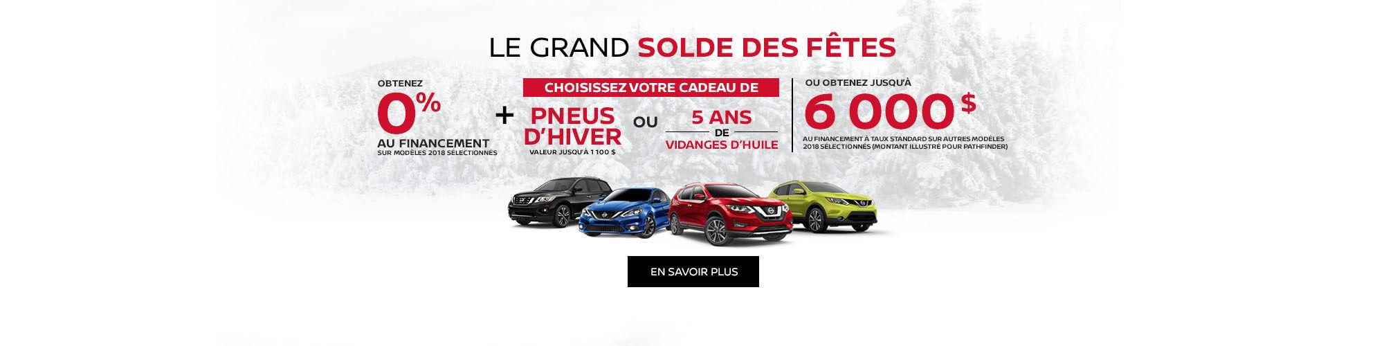 Grand Solde des fêtes Nissan