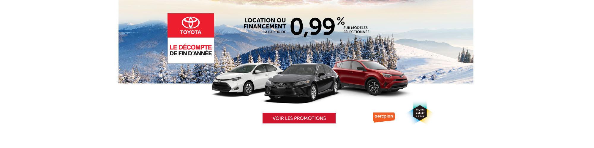 Décompte de fin d'année Toyota
