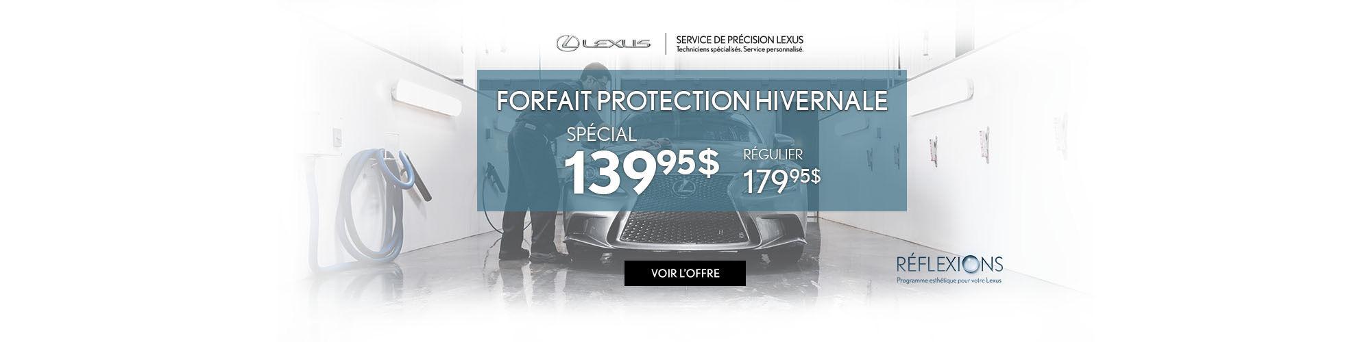 Forfait protection hivernale Lexus