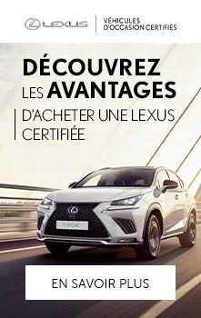 Bénéfices d'acheter une Lexus certifiée
