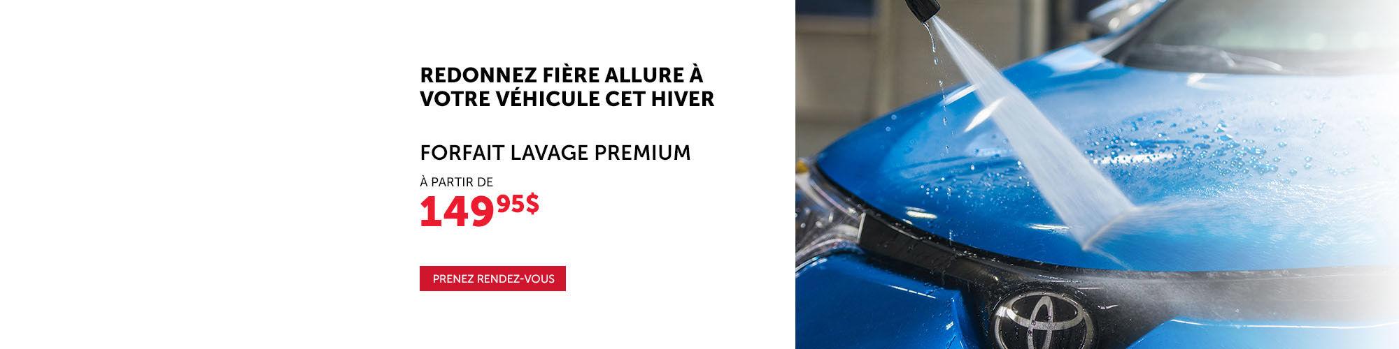 Forfait Lavage Premium