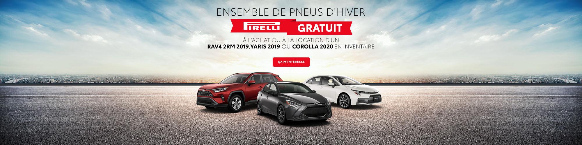 Ensemble de pneus d'hiver Pirelli Gratuit