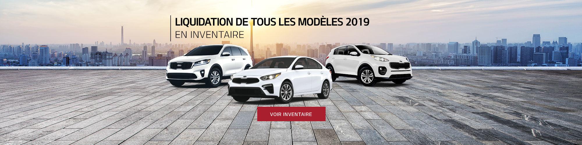 Liquidation modèles Kia 2019