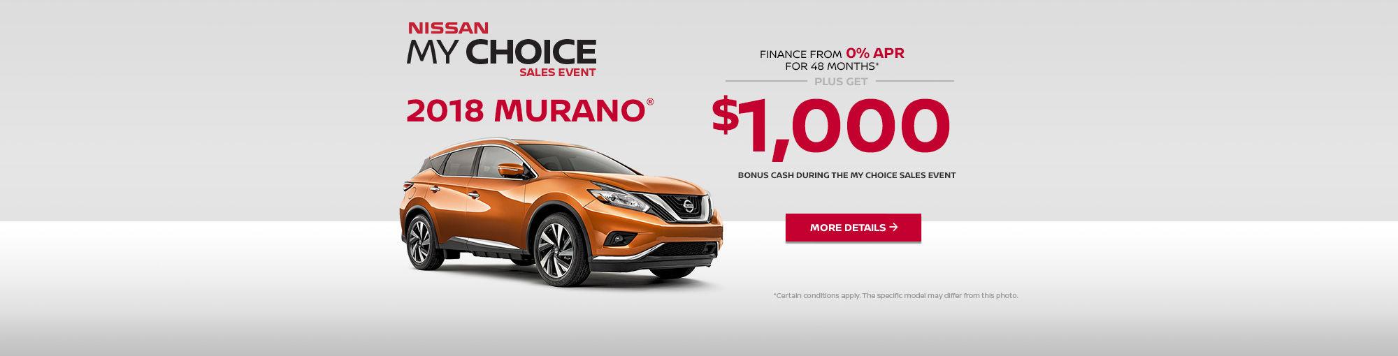 Nissan My Choice Sales Event - Murano (web)