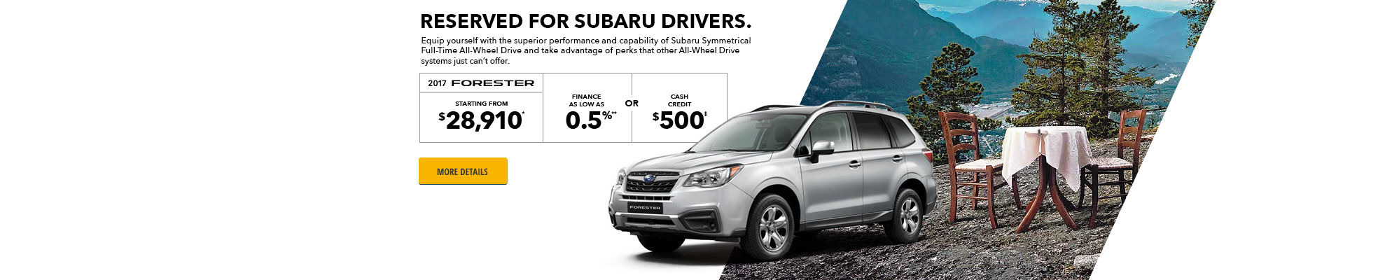 2017 Forester promo