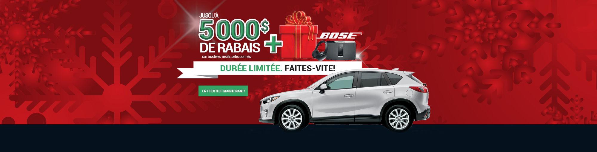 Rabais 5000$ + Cadeau de Noël