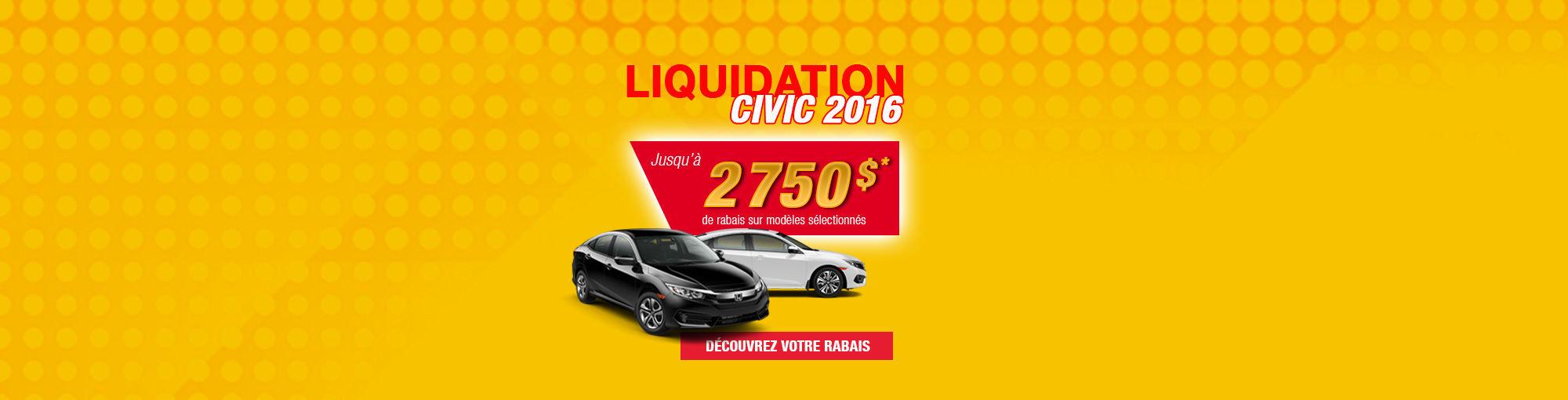 Liquidation civic 2016 (février 2017)