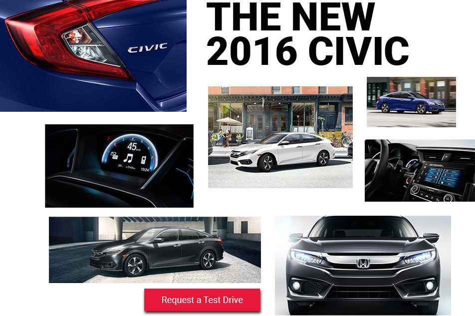 The new 2016 Civic at Bruce Honda