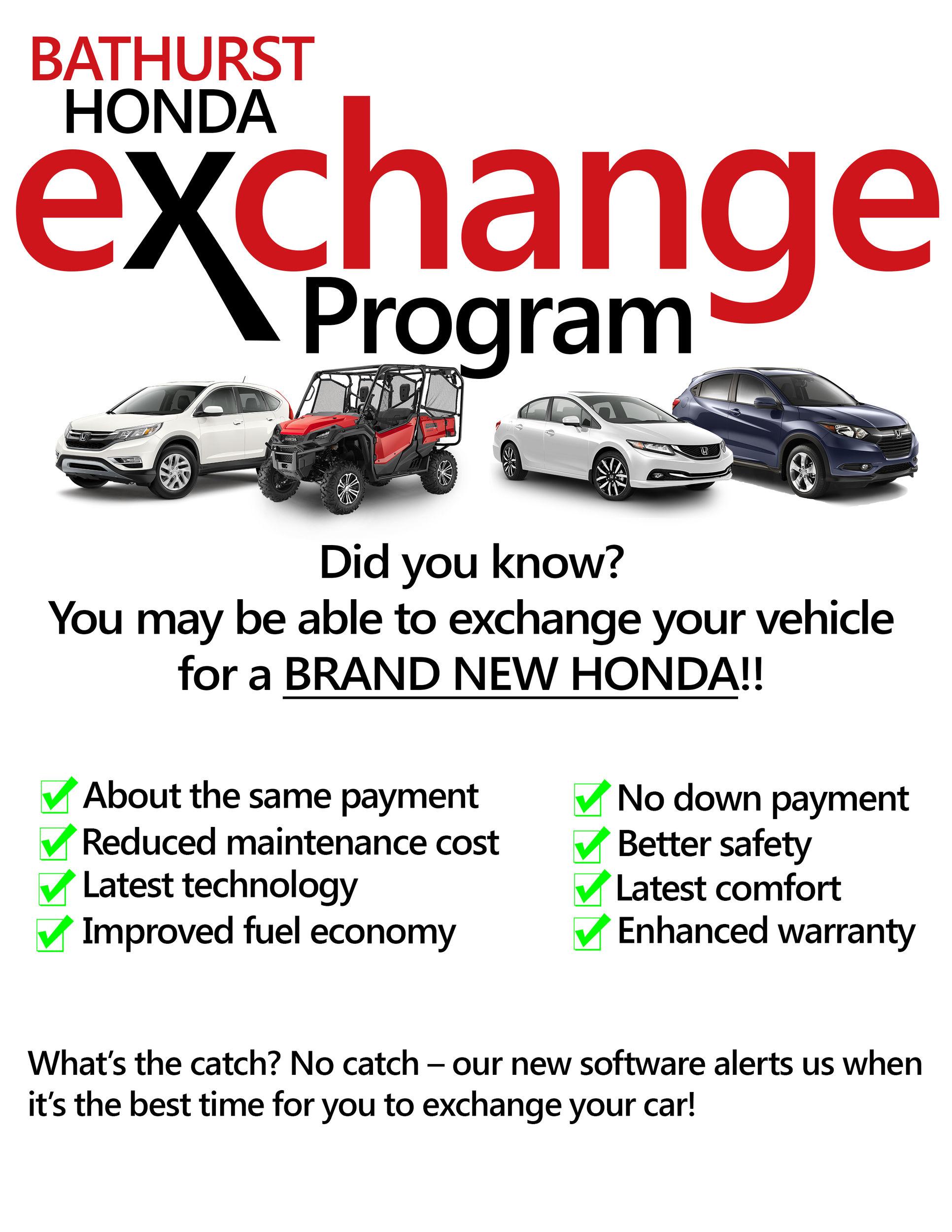 New Vehicles Exchange Program