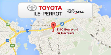 Ile Perrot Toyota map