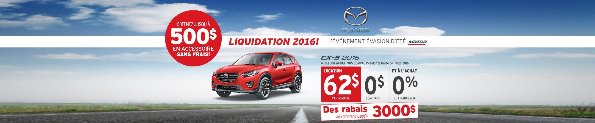 Louez le Mazda CX-5 2016