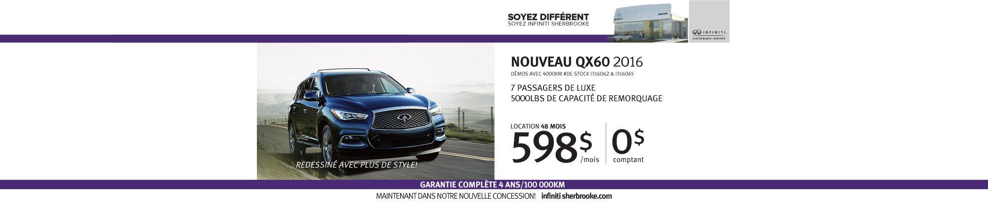 QX60 2016 - Juillet