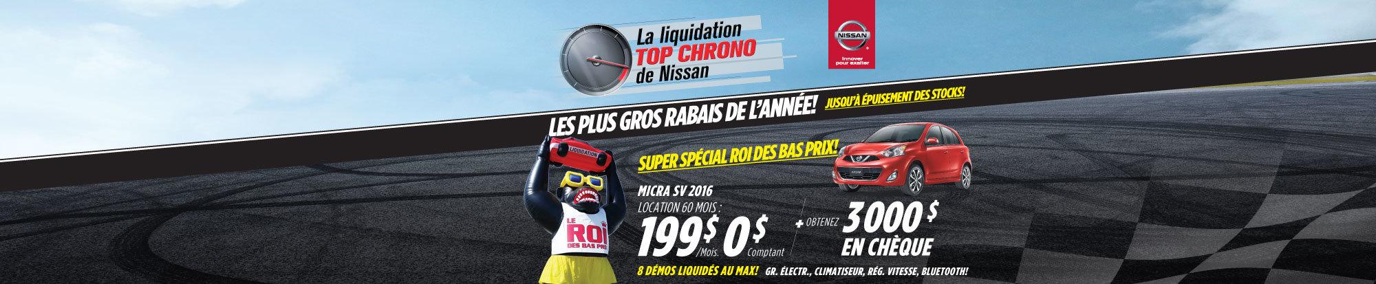 Liquidation top chrono Micra SV 2016