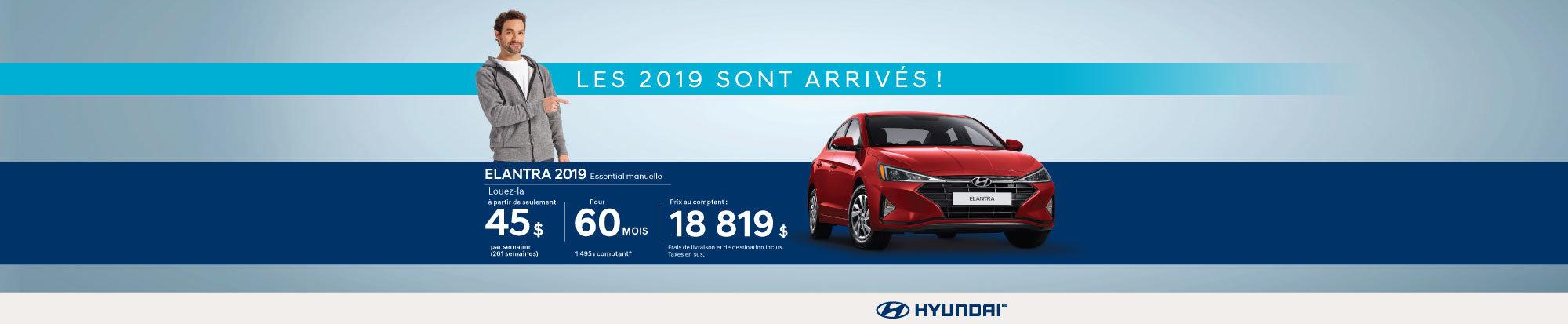 Nos Hyundai Elantra 2019 sont arrivées! web