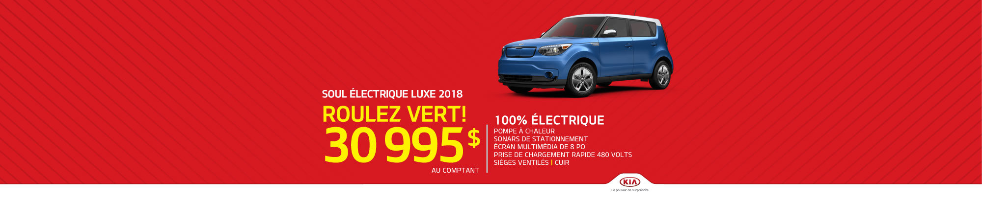 La Kia Soul Électrique Luxe 2018 - Roulez vert!