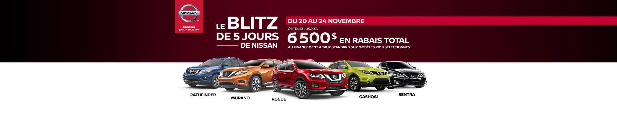 Blitz de 5 jours Nissan! Header - desktop