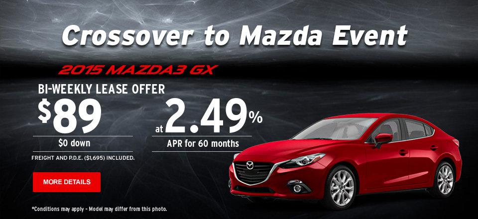 2015 Mazda3 GX - Crossover to Mazda Event