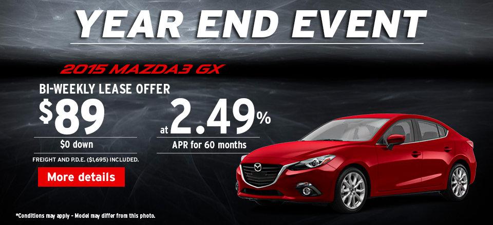 2015 Mazda3 GX - Year end event