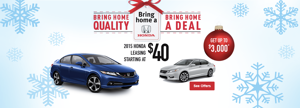 Bring home a Honda - November