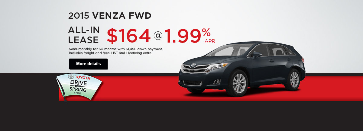 Receive a great deal on the 2015 Venza