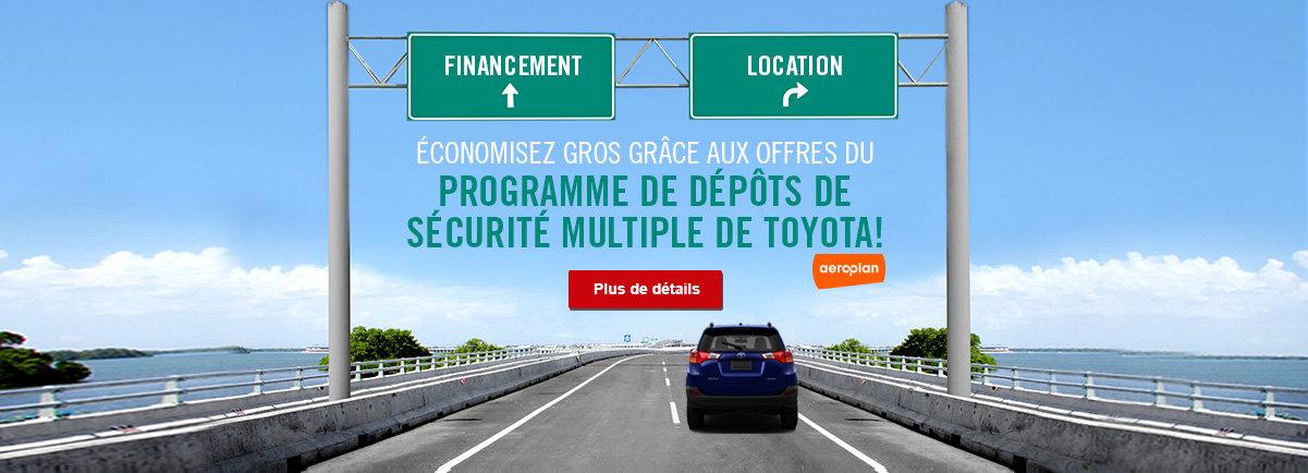 Programme de dépôts de sécurité multiple de Toyota