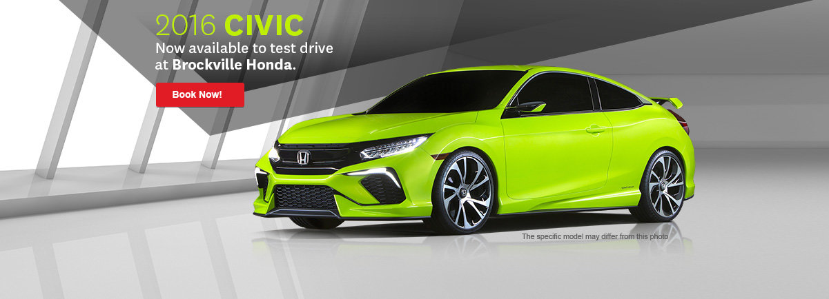 2016 Civic Now available to test drive at Civic Motors Honda.