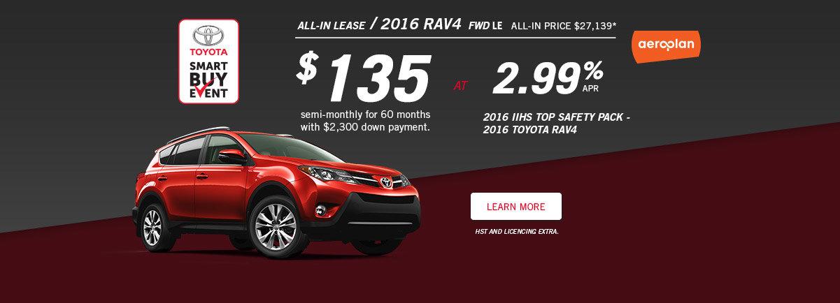 Smart Buy Event - Rav4