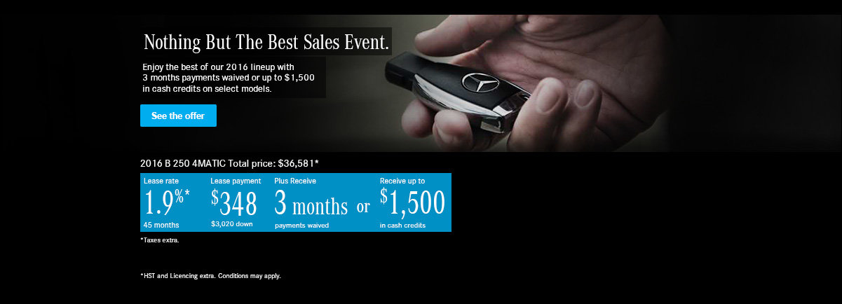 Nothing But The Best Sales Event.