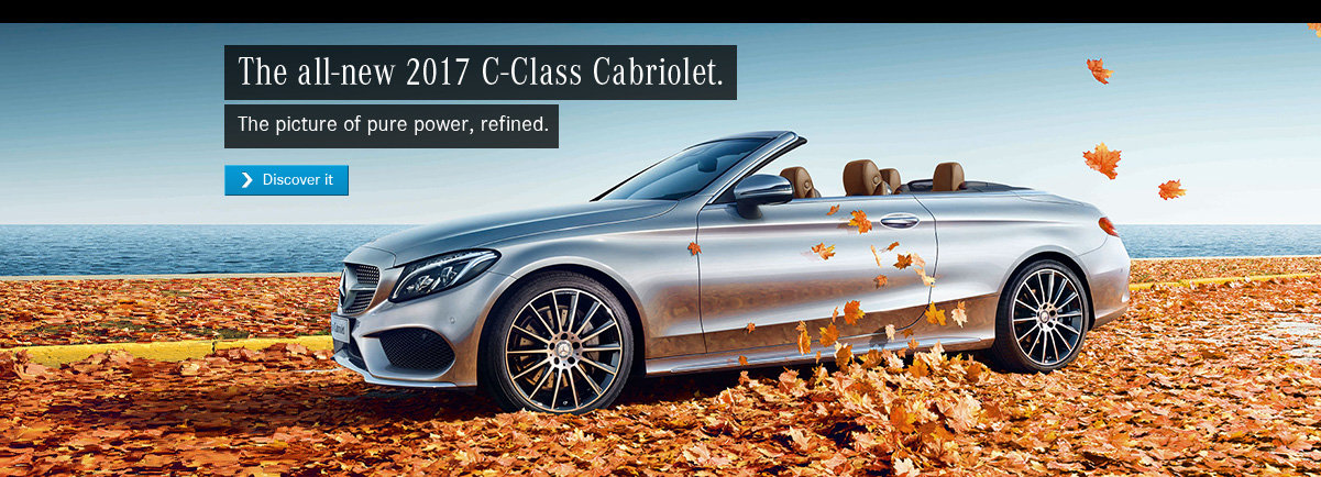 The all-new 2017 C-Class Cabriolet