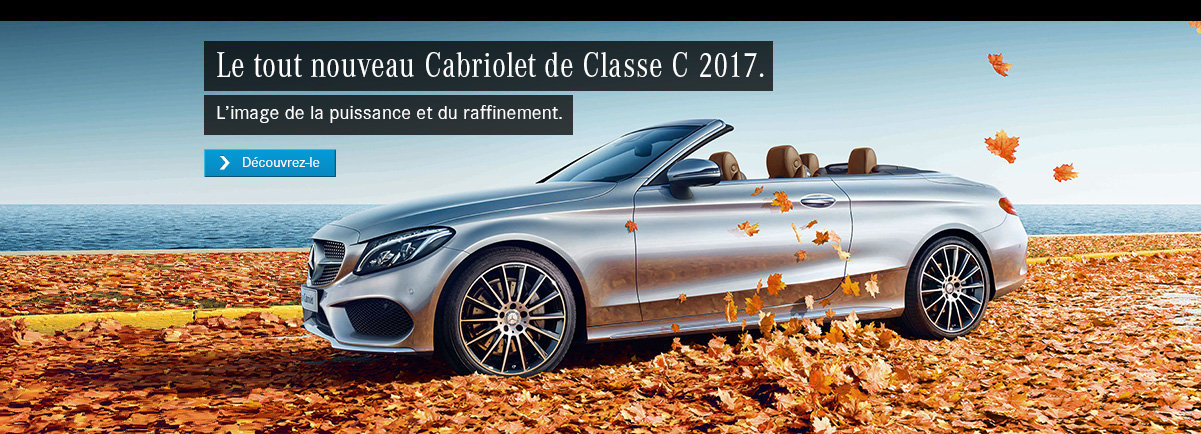 Le tout nouveau Cabriolet de Classe C 2017