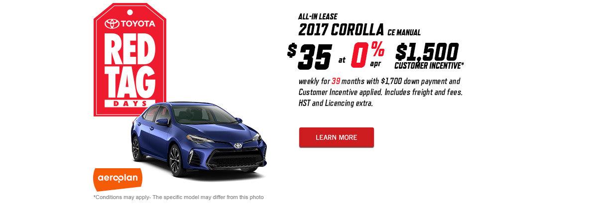 March 2017 Corolla