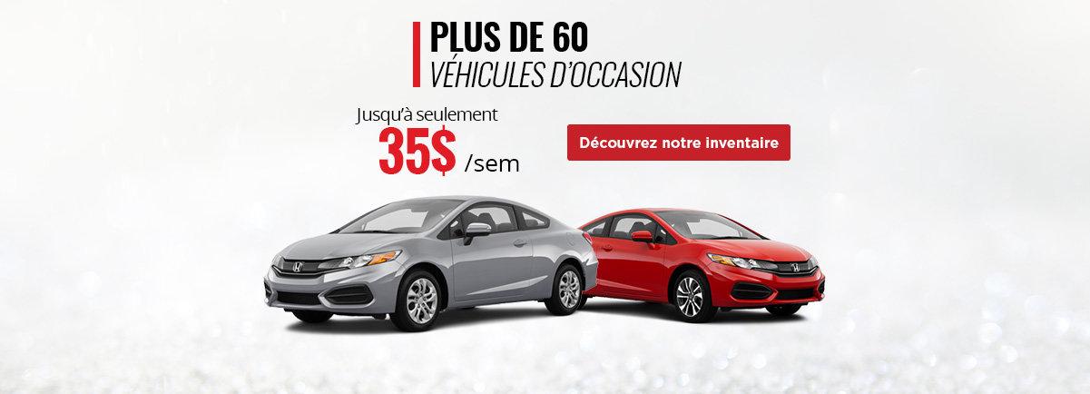 Plus de 60 véhicules d'occasion