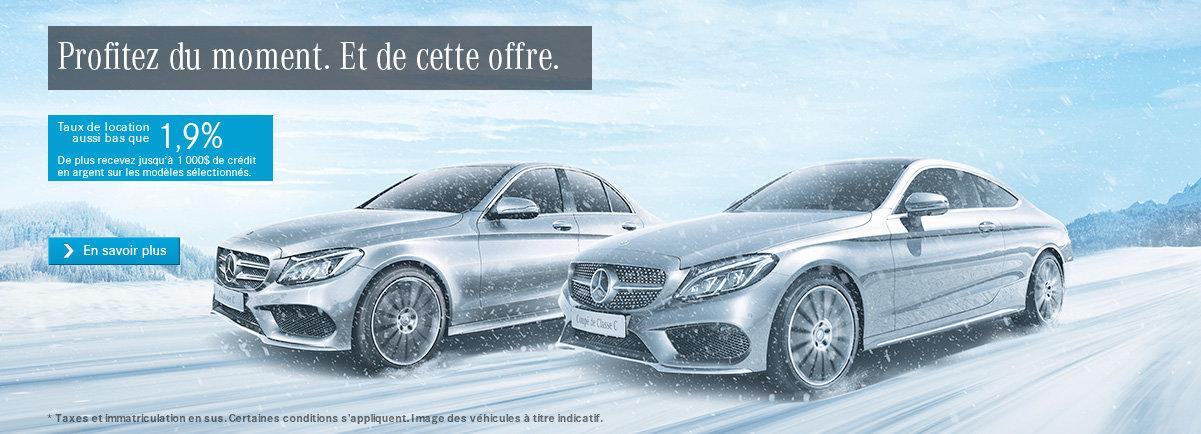 La vente mensuelle Mercedes