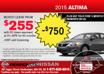 Save on the all-new 2015 Nissan Altima Sedan