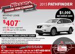Get the 2015 Nissan Pathfinder now!
