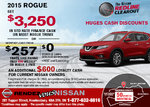 Drive home the 2015 Nissan Rogue today!
