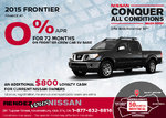 Save on the new 2015 Nissan Frontier!