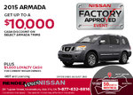 Save on the 2015 Nissan Armada!