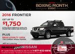 Save on the New 2016 Nissan Frontier!