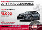 Save on the All-New 2016 Nissan Maxima!